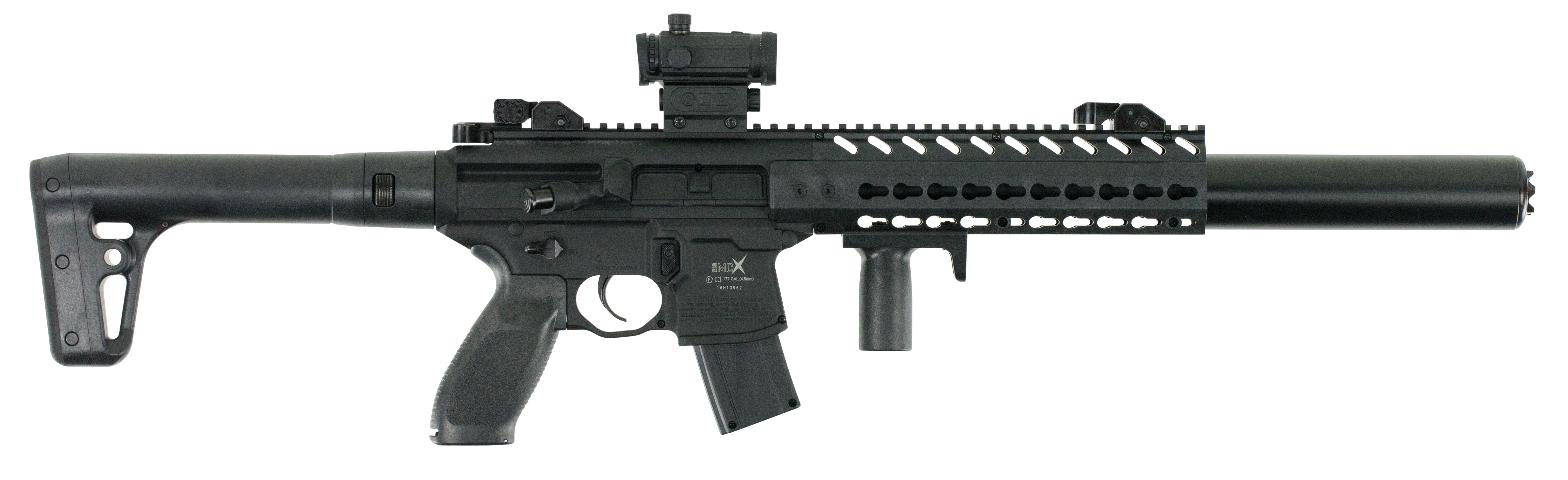 SIG Sauer MCX Red Dot Air Rifle CO2 Semi-Automatic .177 Pellet with Red Dot sight