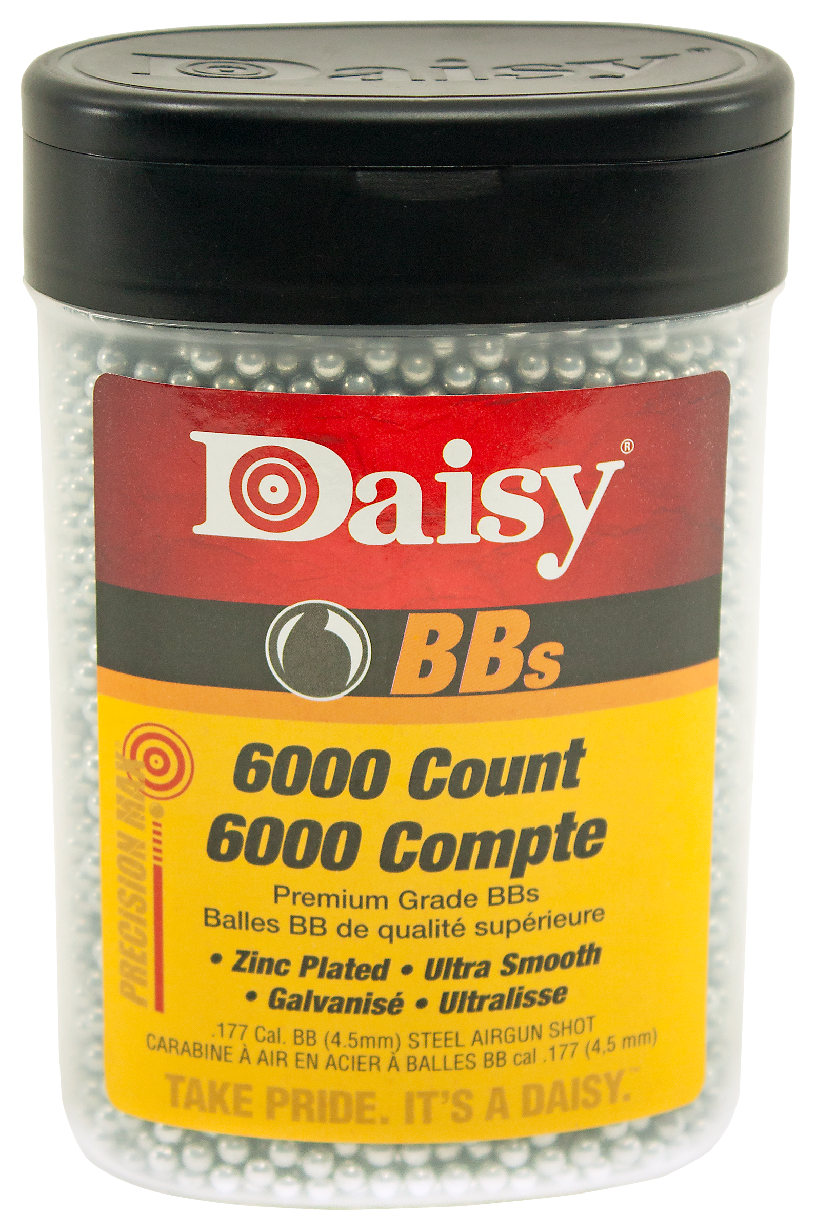 Daisy PrecisionMax .177 Cal BB 5.1 Grains BB Zinc-Plated Steel 6000ct
