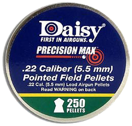 Daisy PrecisionMax .22 Cal Pellet 14 Grains Pointed Lead 250ct