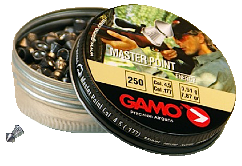 Gamo Master .177 Cal Pellet 7.56 Grains Pointed Lead 250ct