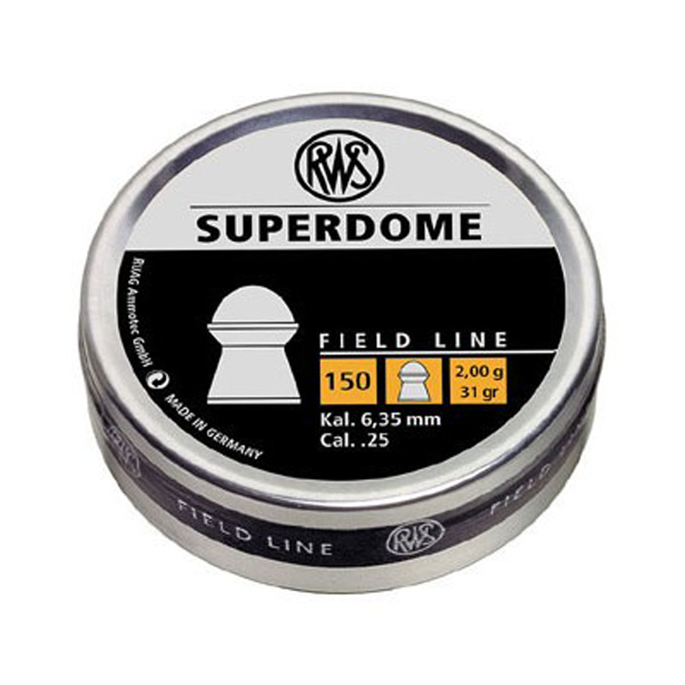 RWS Superdome .25 Cal Pellet 31 Grains Domed Lead 150ct