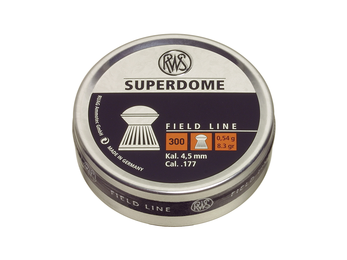 RWS Superdome .177 Cal Pellet 8.3 Grains Domed Lead 500ct