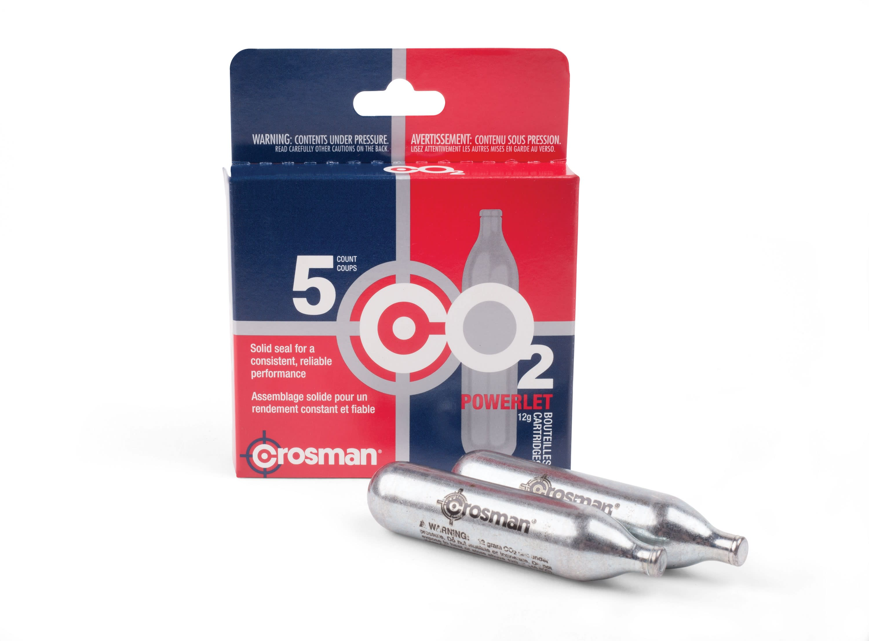 Crosman Powerlet - 12-Gram CO2 Cartridges per 5