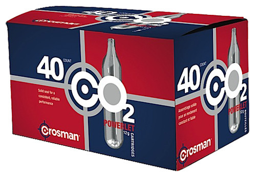 Crosman Powerlet - 12-Gram CO2 Cartridges per 40
