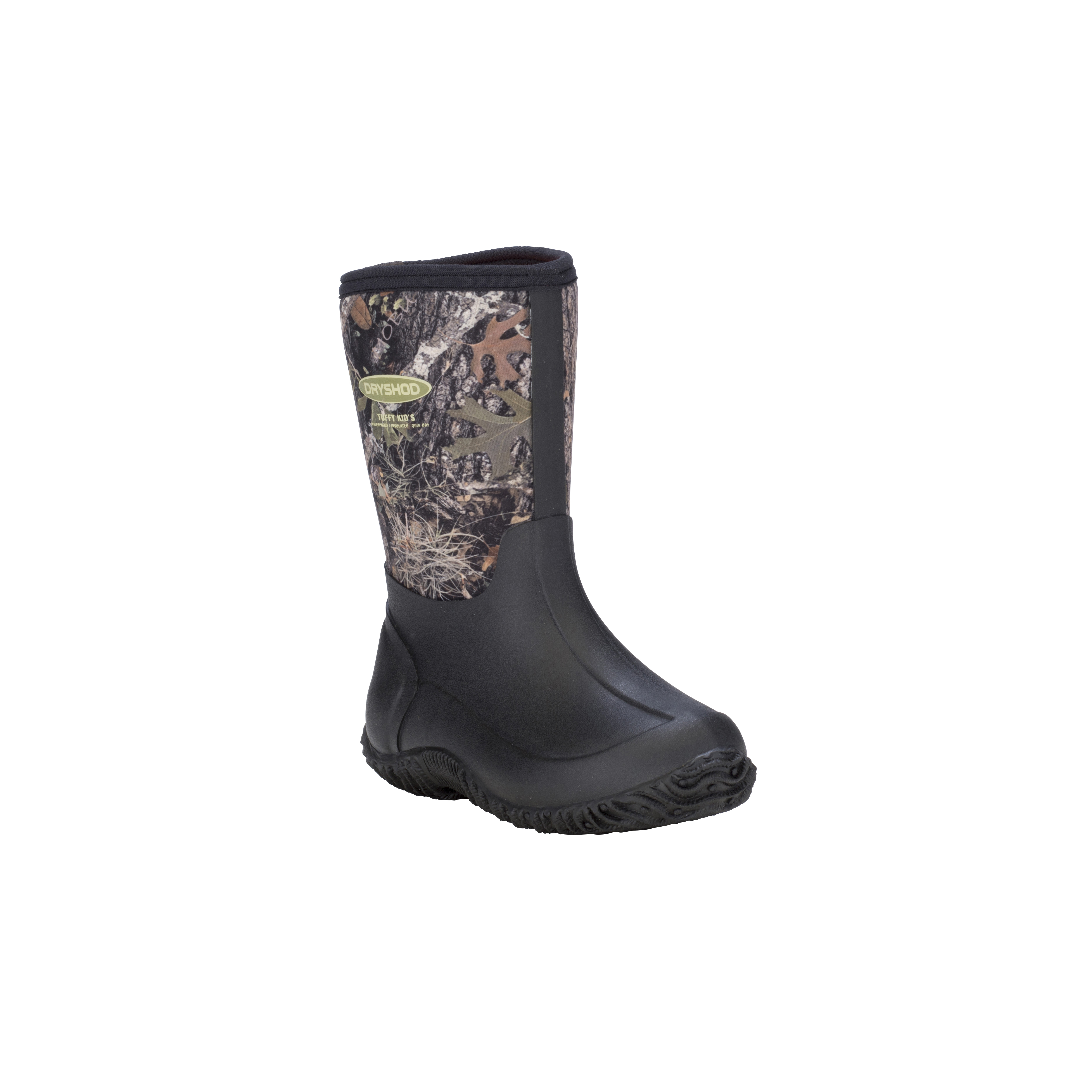 Dryshod Kids' Tuffy All Season Sport Boots - Mid/Hi Cut - Size C12, Camo/Timber