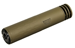 SilencerCo Omega 300 Rifle Suppressor - 300 Win Mag - Quick-Detach/Direct-Thread - Flat Dark Earth