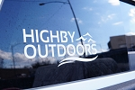 Highby Outdoors Window Decal - 12