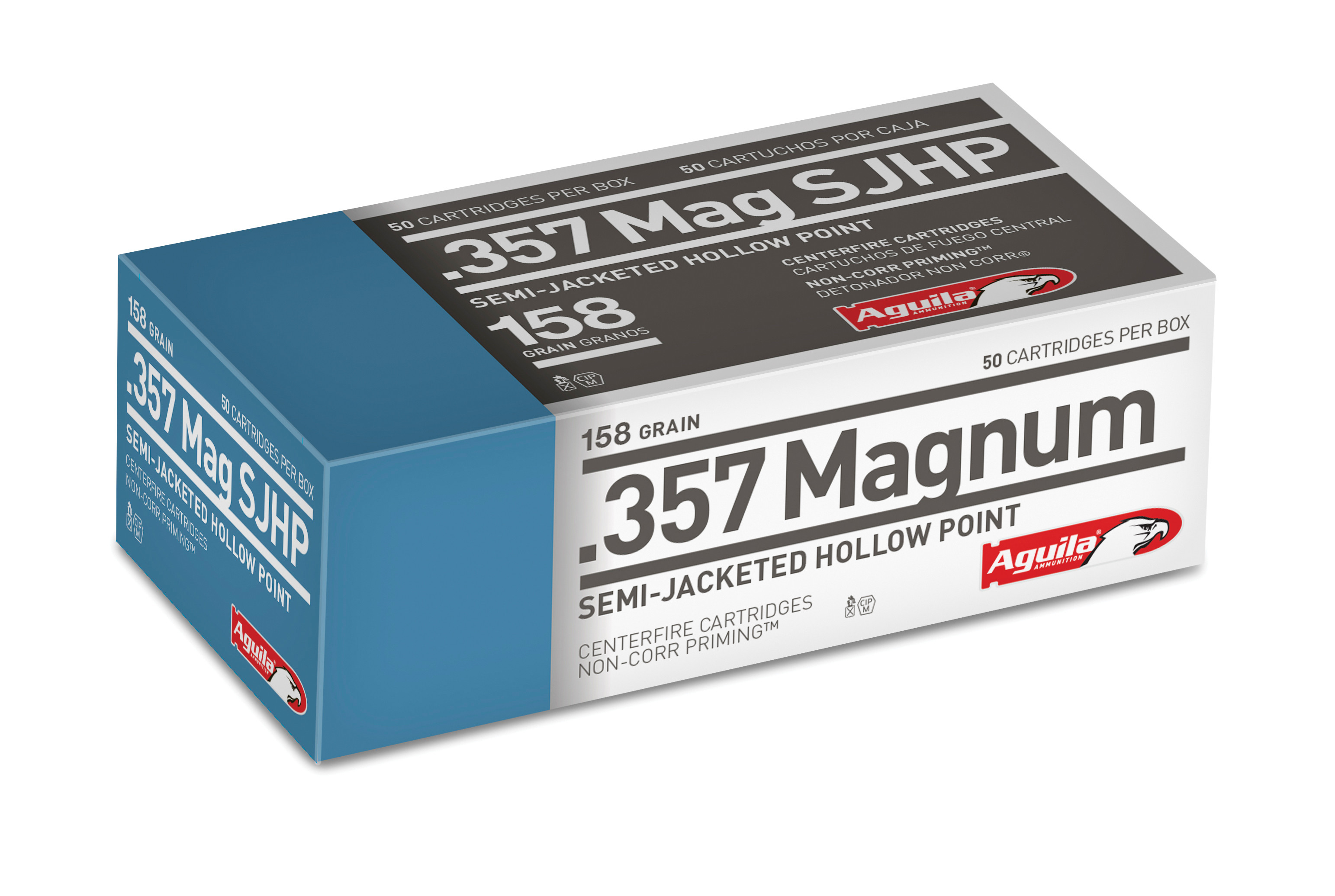 Aguila Ammunition 357 Magnum 158 Grain Semi-Jacketed Hollow Point Per 50
