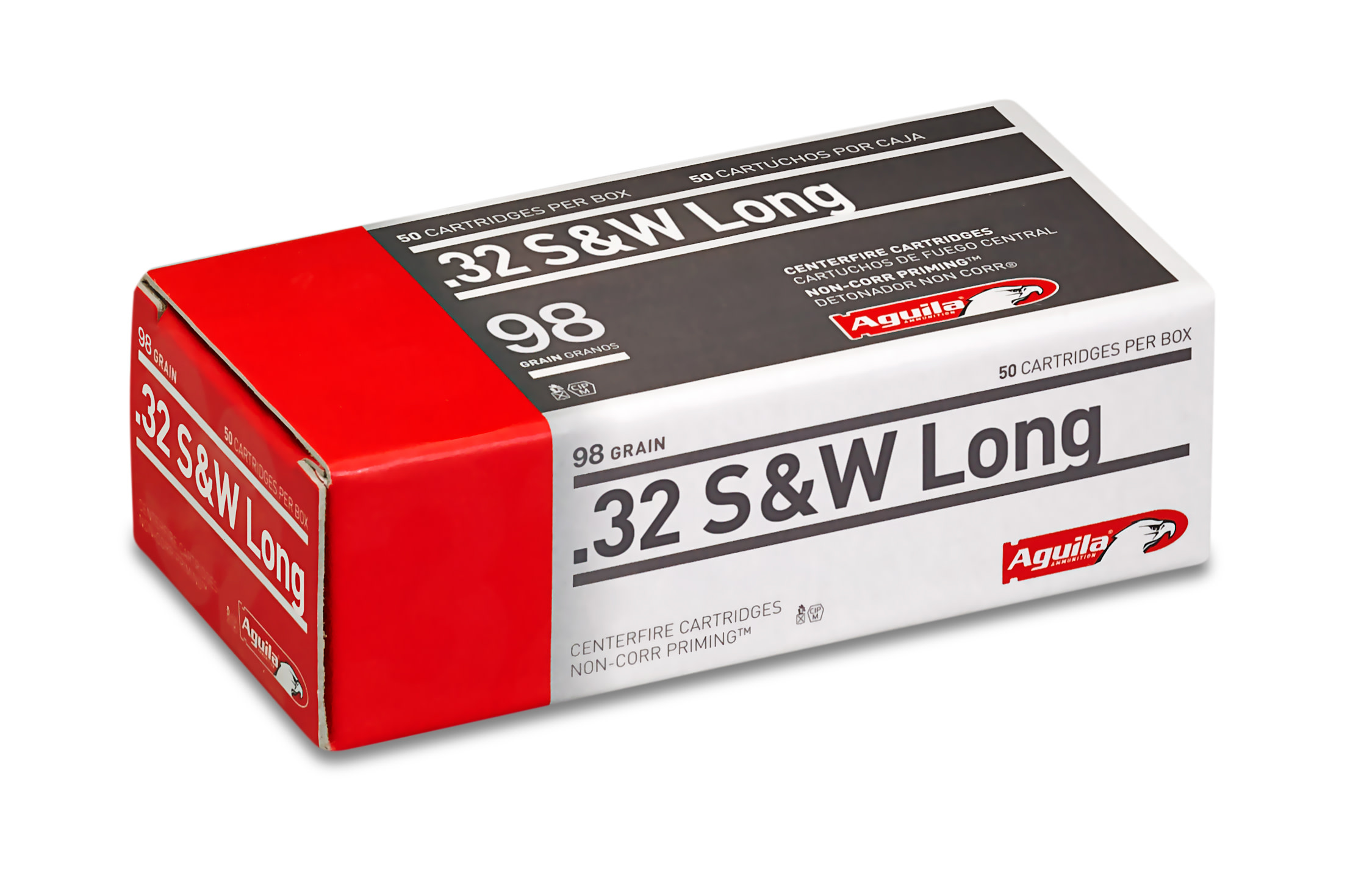 Aguila Ammunition 32 S&W Long 98 Grain Lead Round Nose Per 50