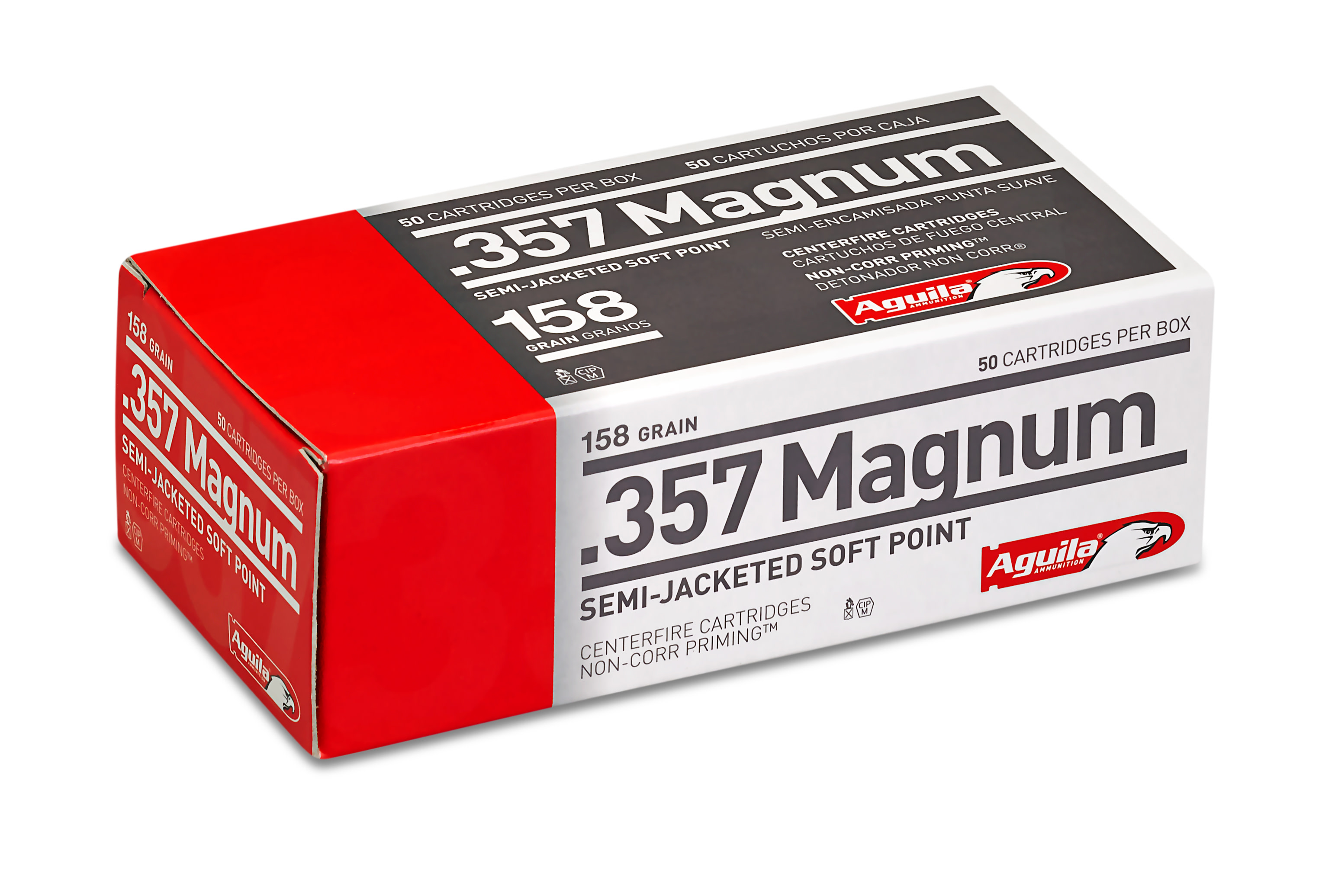 Aguila Ammunition 357 Magnum 158 Grain Semi-Jacketed Soft Point Per 50