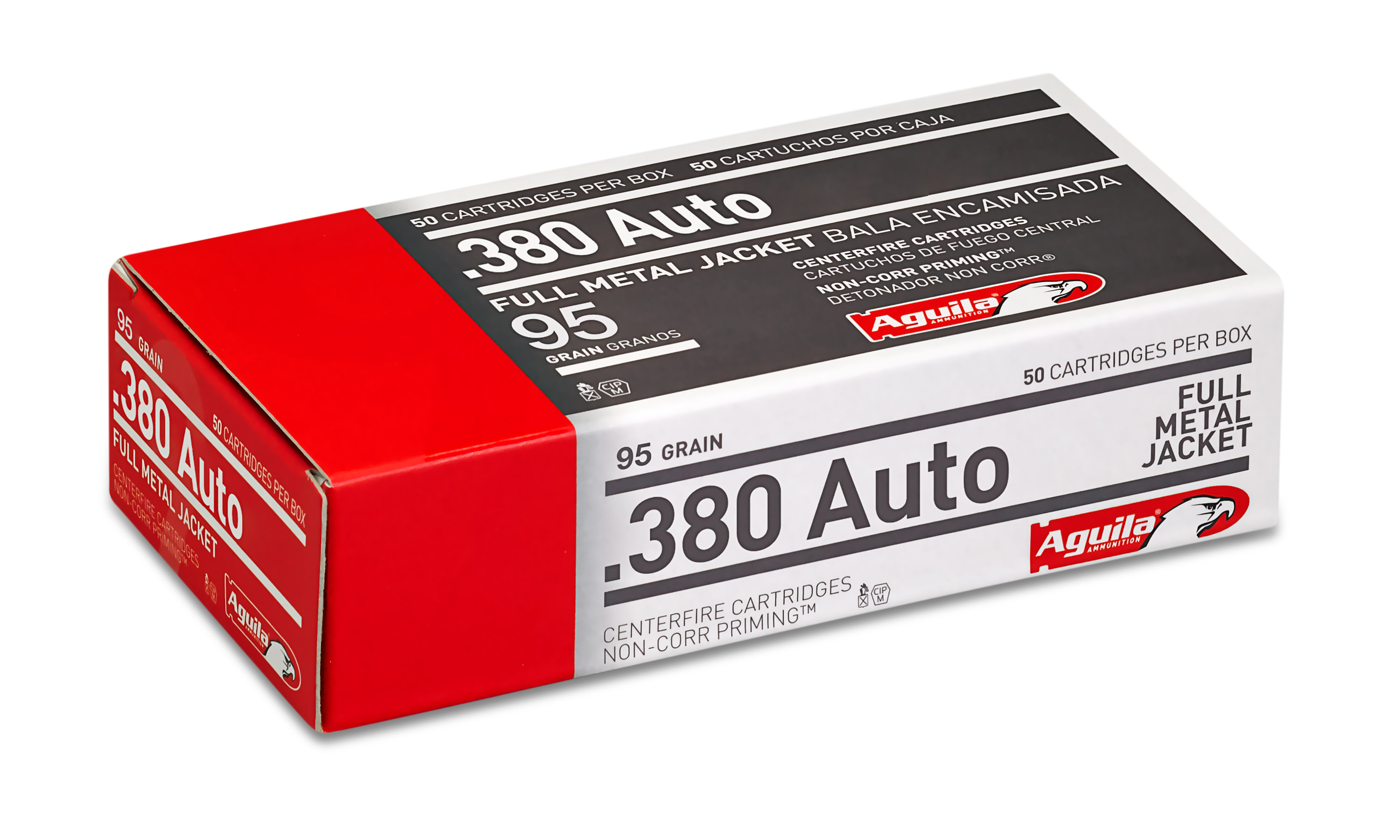 Aguila Ammunition 380 Auto (ACP) 95 Grain Full Metal Jacket Per 50