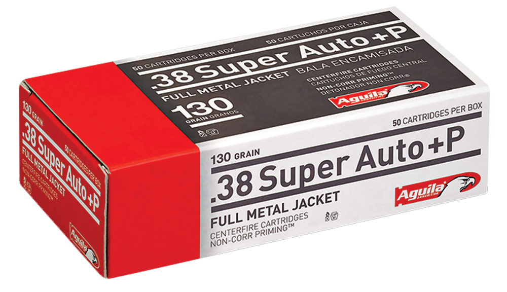 Aguila Ammunition 38 Super +P 130 Grain Full Metal Jacket Per 50