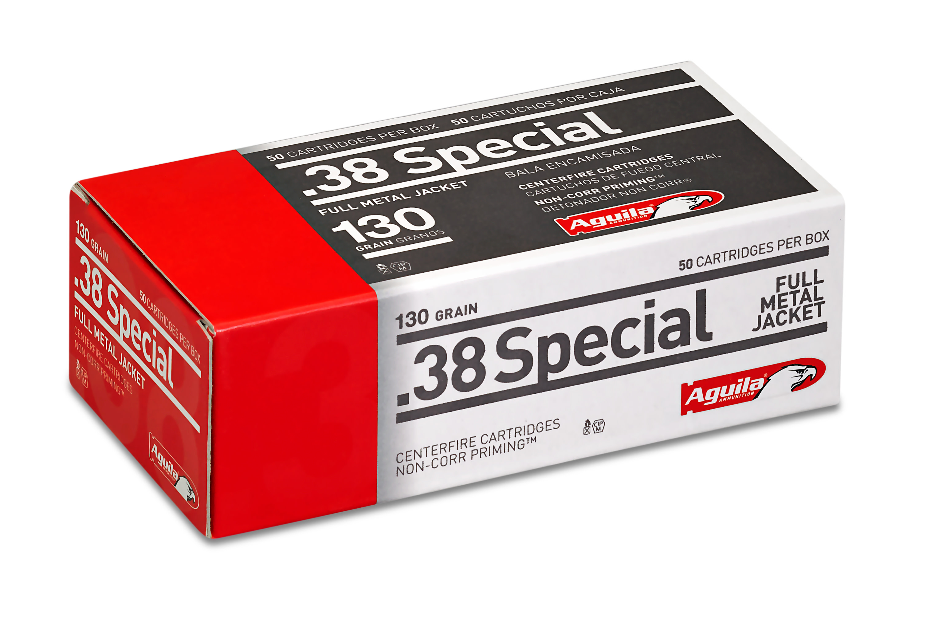 Aguila Ammunition 38 Special 130 Grain Full Metal Jacket Per 50