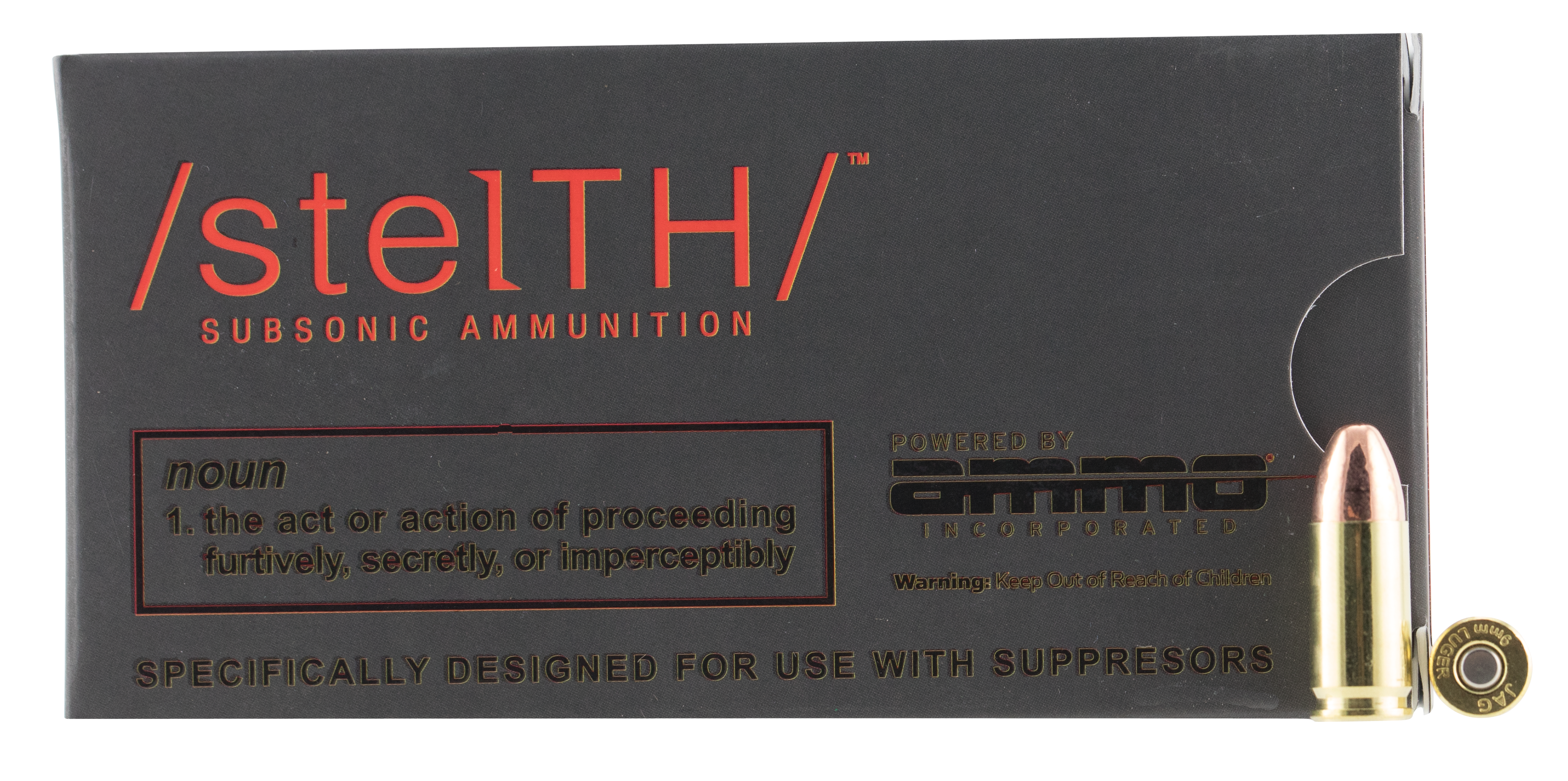 Ammo Inc. Stelth Ammunition 9mm Luger 147 Grain Total Metal Jacket Per 50