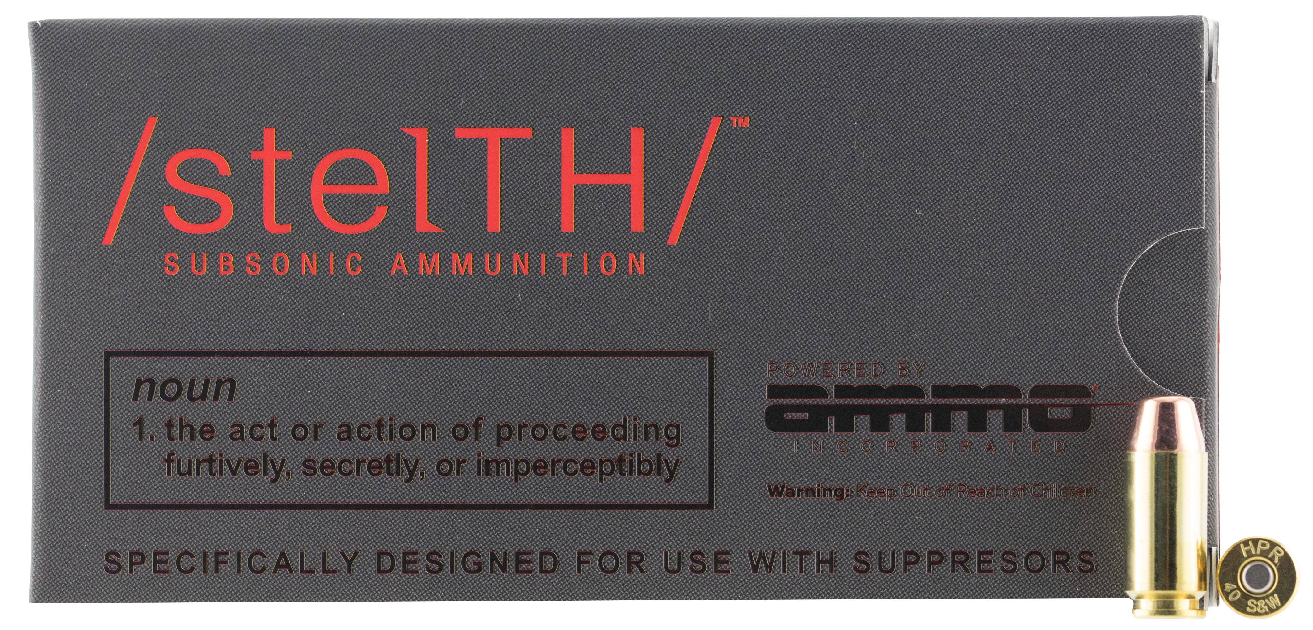 Ammo Inc Stelth Ammunition 40 S&W 180 Grain Total Metal Jacket Per 50