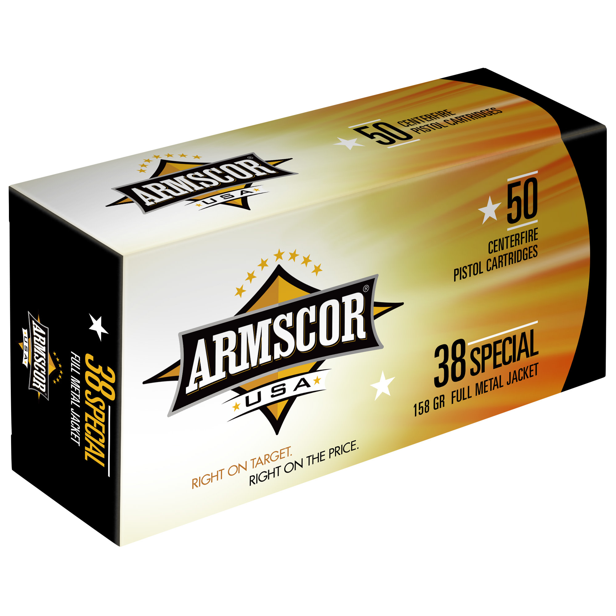 Armscor USA Ammunition 38 Special 158 Grain Full Metal Jacket Per 50