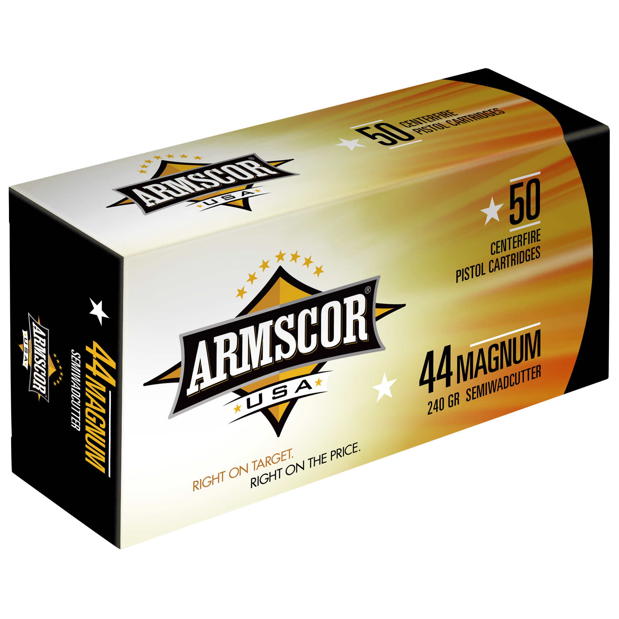Armscor USA Ammunition 44 Remington Magnum 240 Grain Semi-Wadcutter Per 50