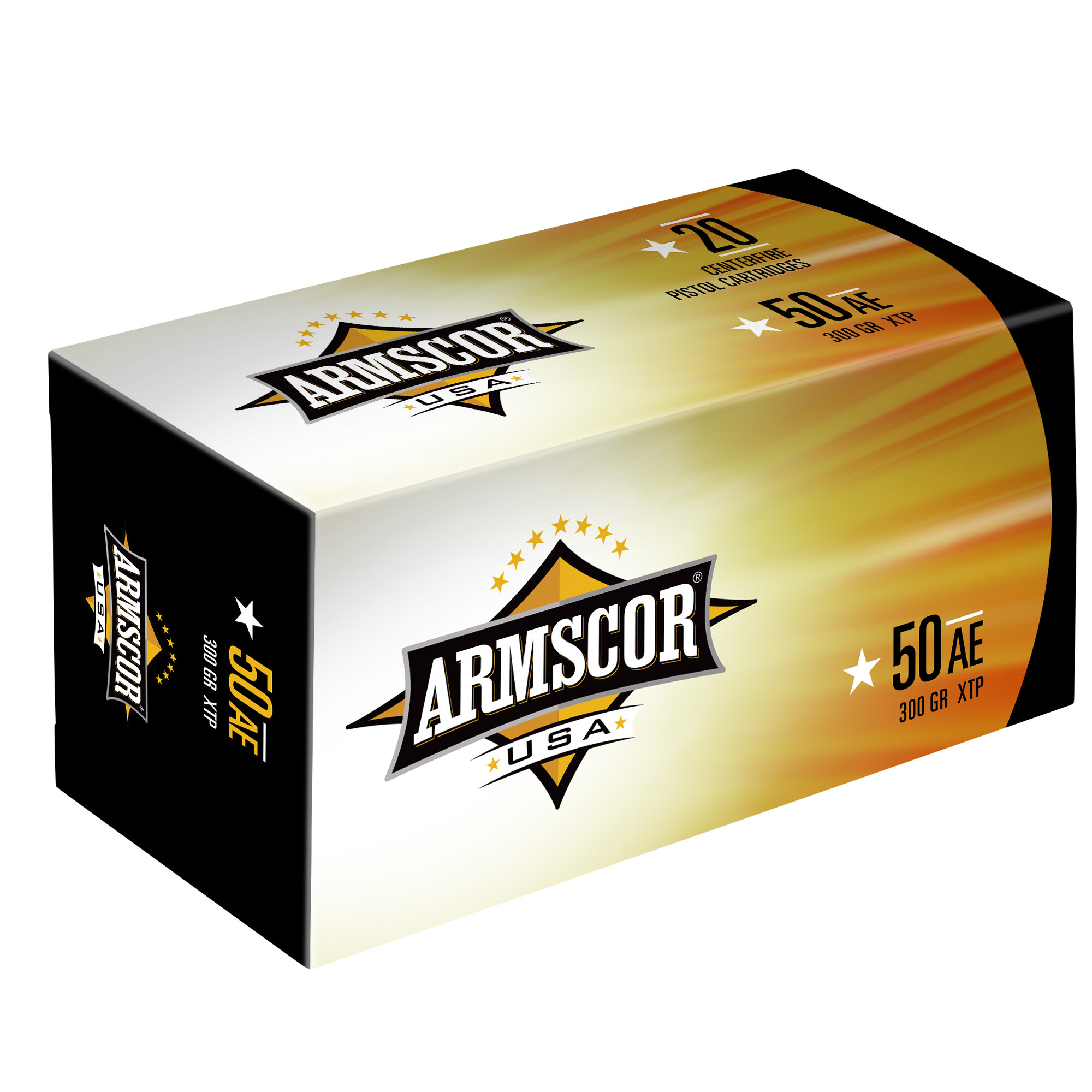Armscor USA Ammunition 50 Action Express 300 Grain XTP Solid Hollow Point Per 20
