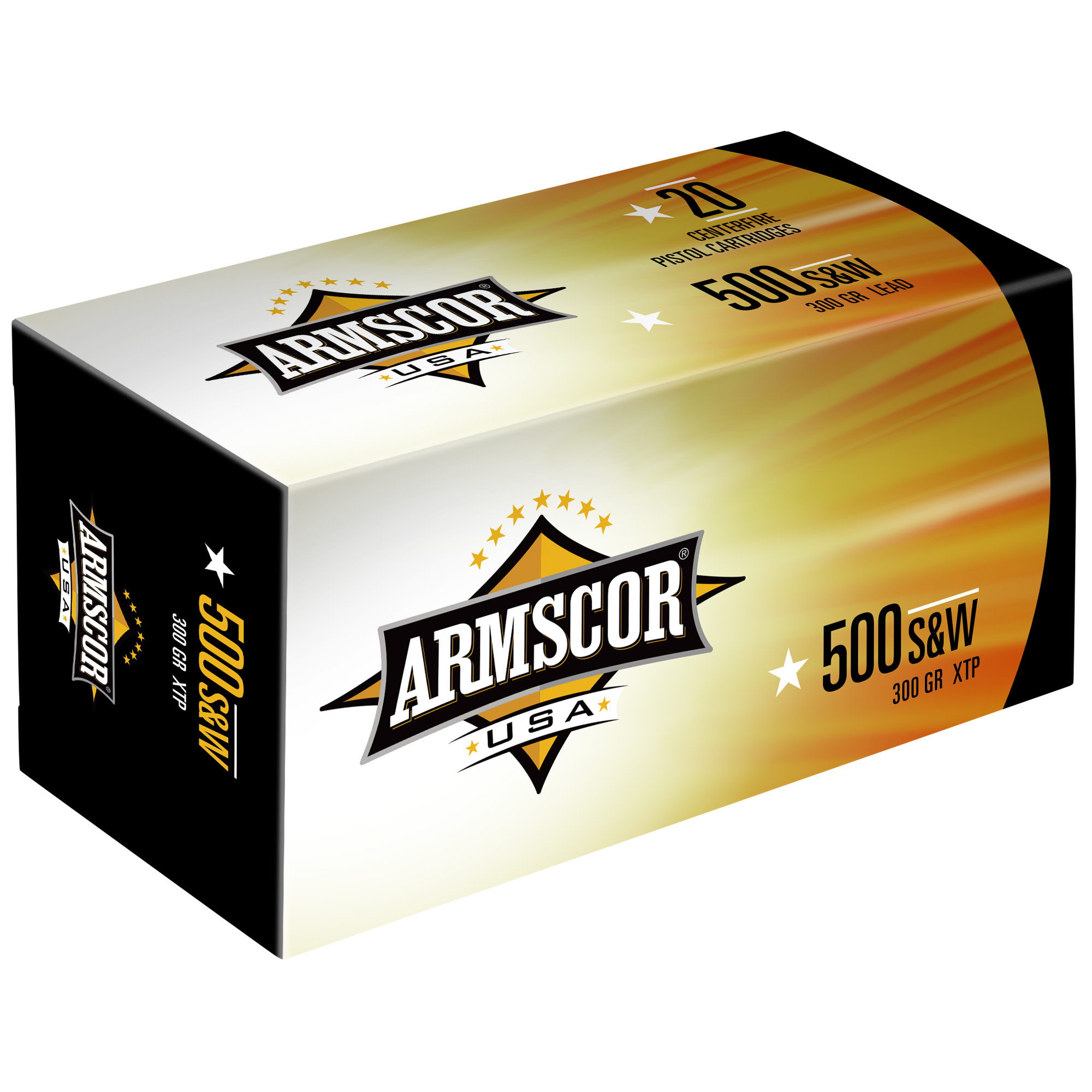 Armscor USA Ammunition 500 S&W Magnum 300 Grain XTP Solid Hollow Point Per 20