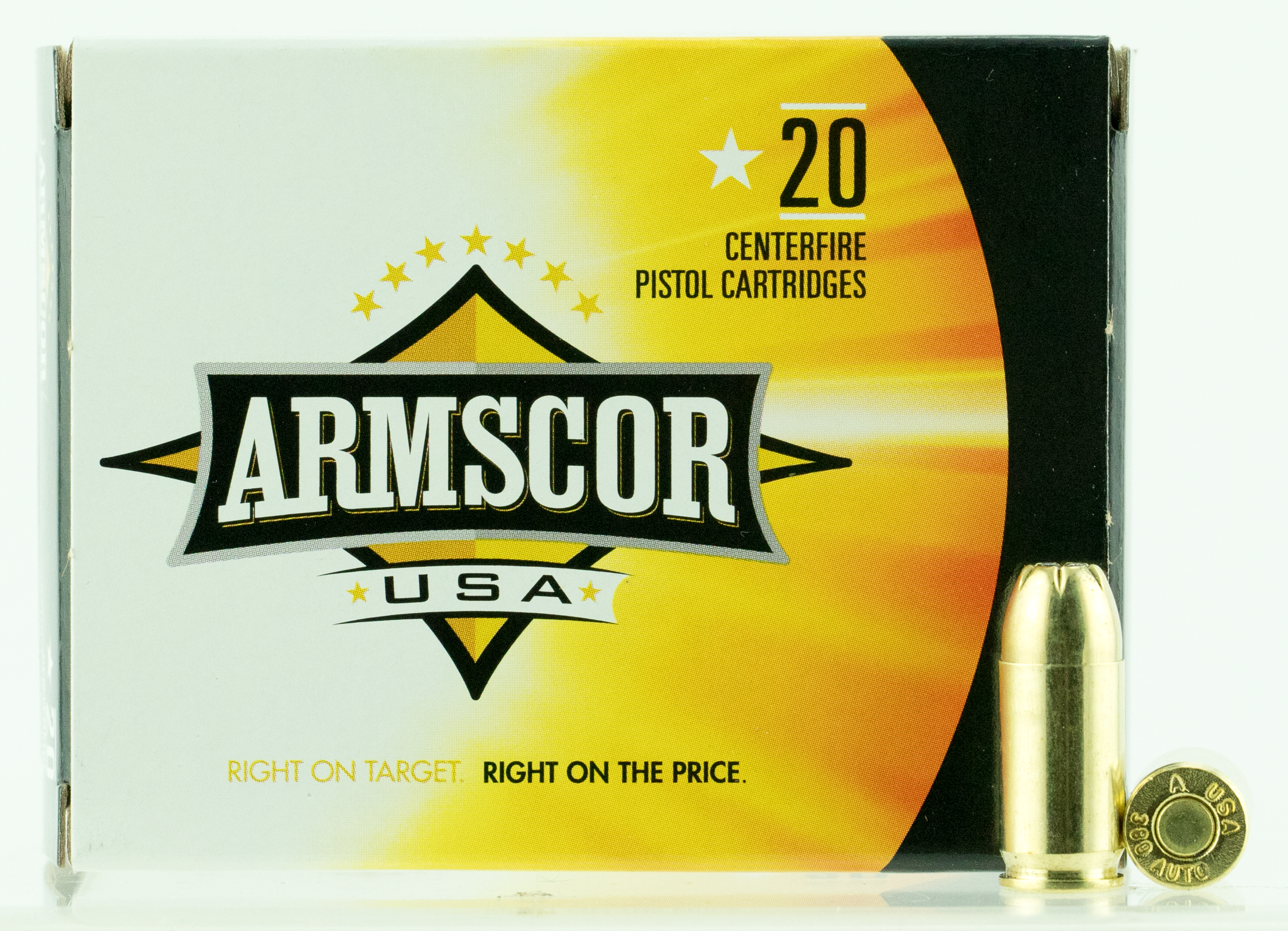 Armscor USA Ammunition 380 Auto (ACP) 95 Grain Jacketed Hollow Point Per 20