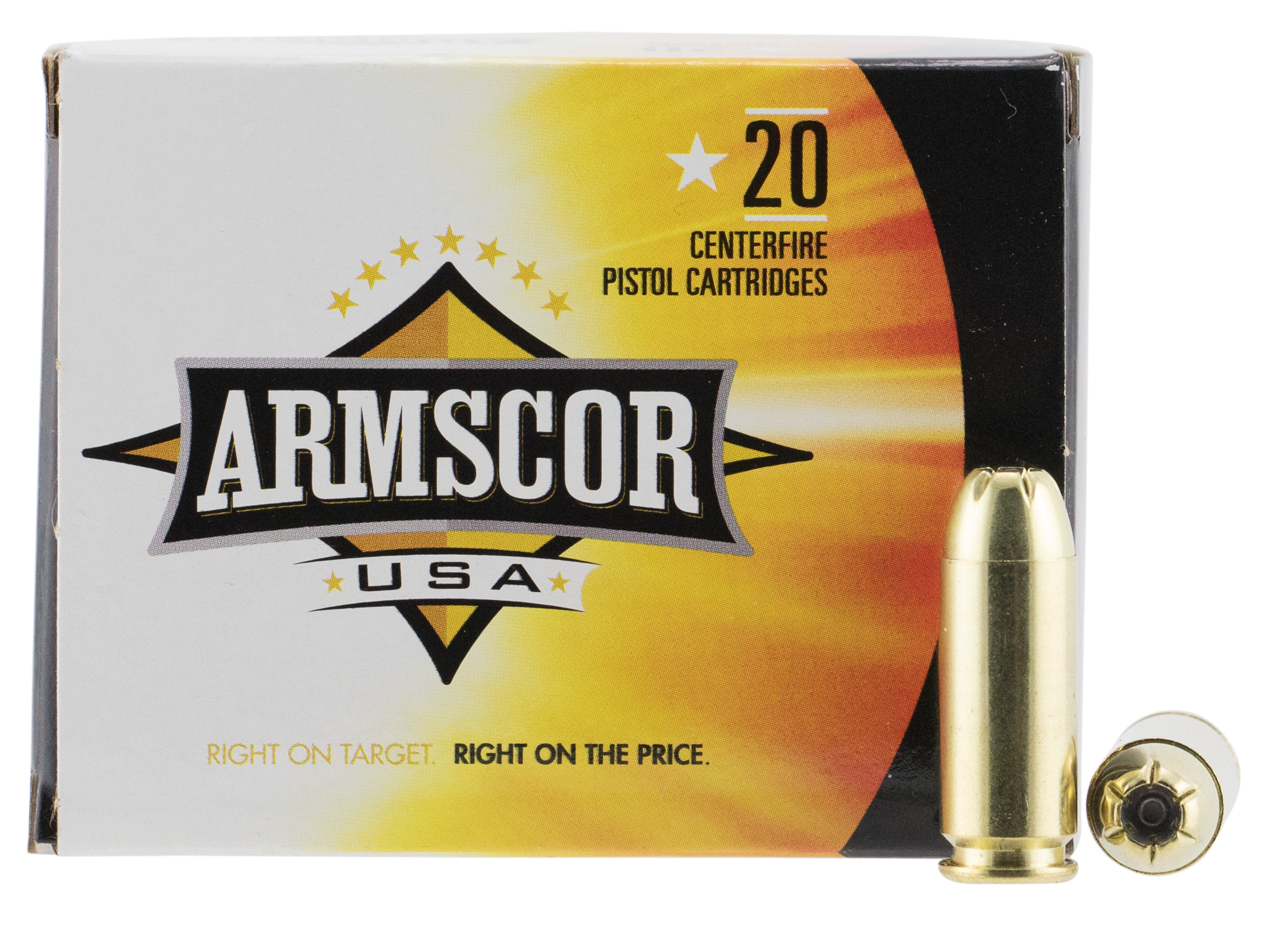 Armscor USA Ammunition 10mm Auto 180 Grain Jacketed Hollow Point Per 20