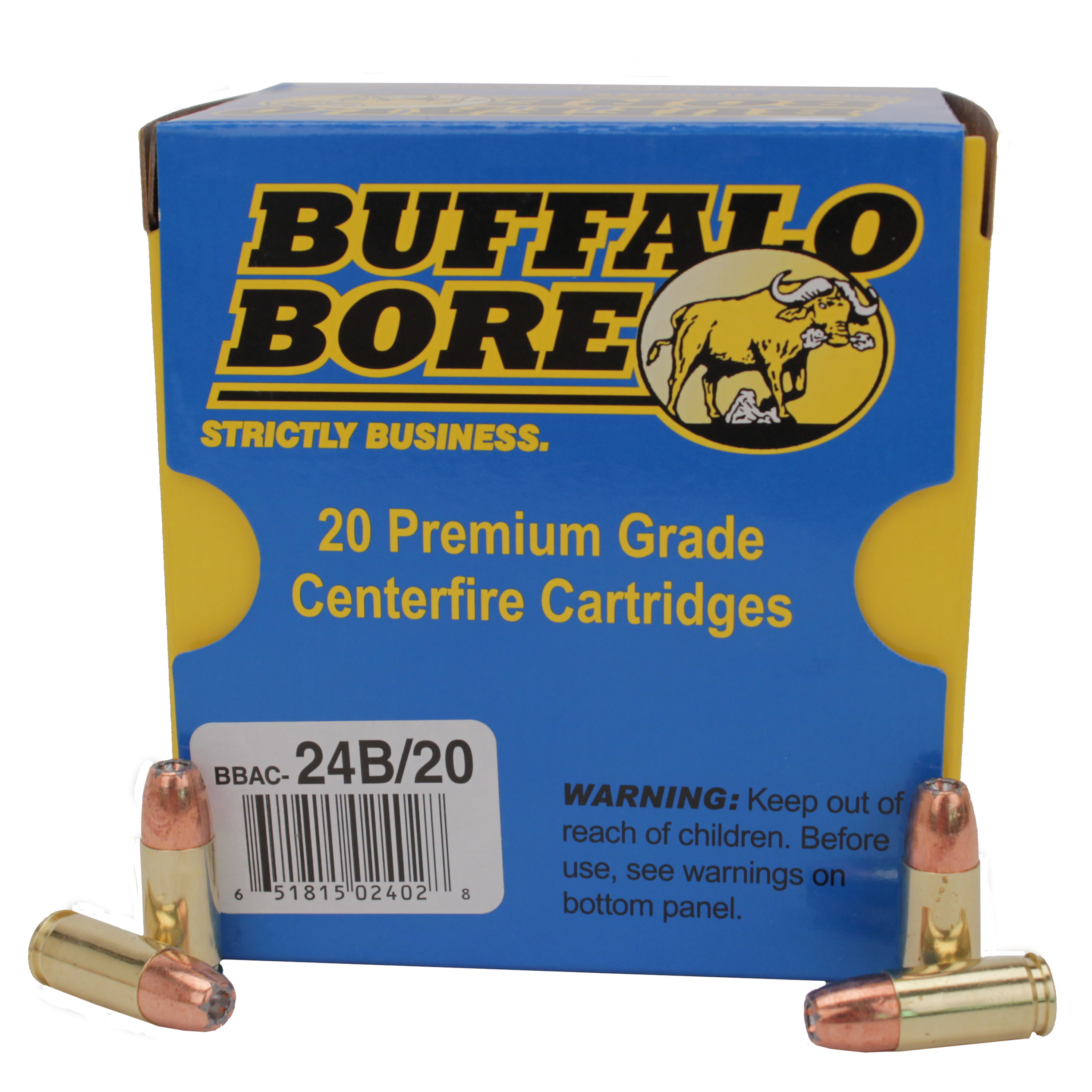 Buffalo Bore Ammunition 9mm Luger +P+ 124 Grain Jacketed Hollow Point Per 20