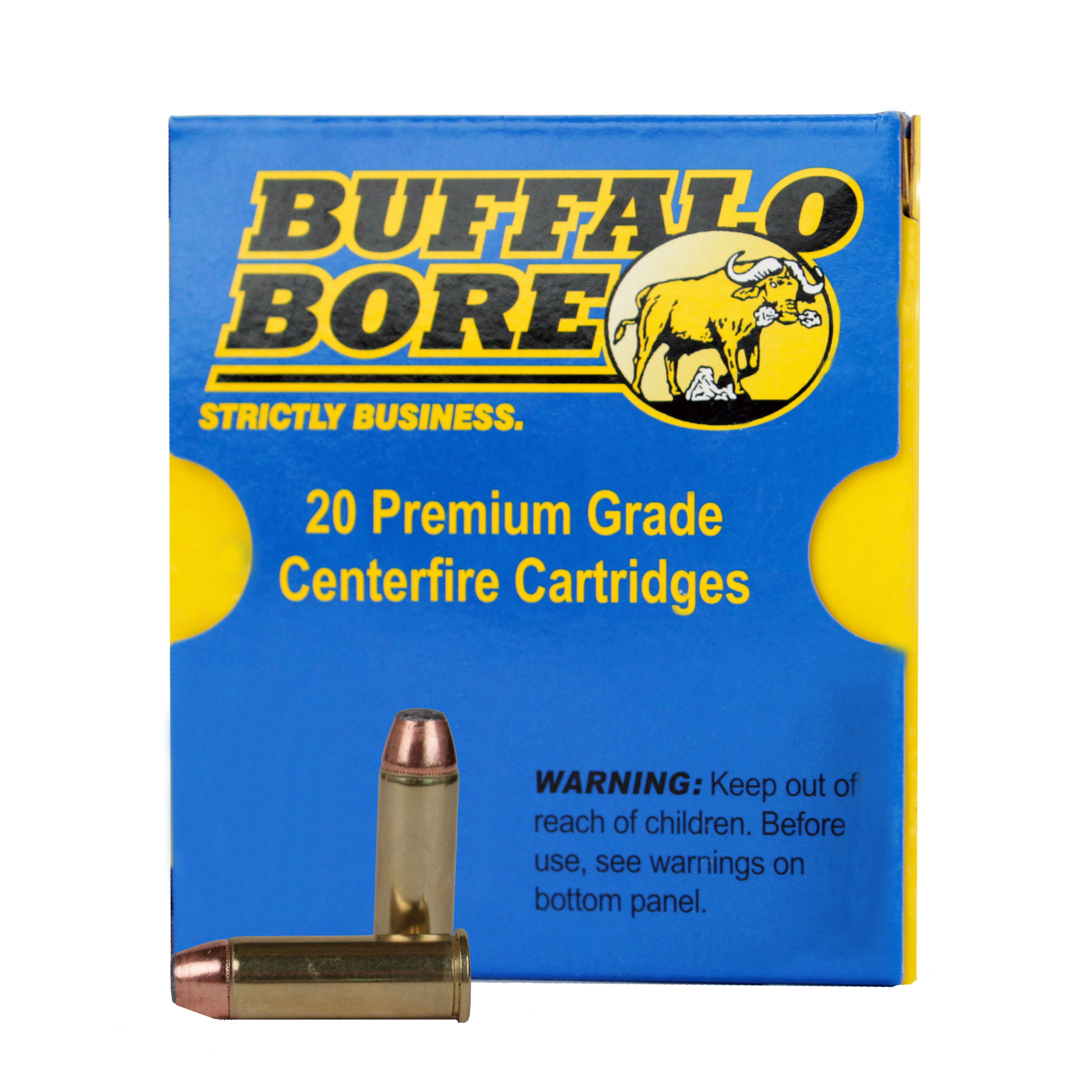 Buffalo Bore Ammunition 44 Remington Magnum 270 Grain Jacketed Flat Nose Per 20