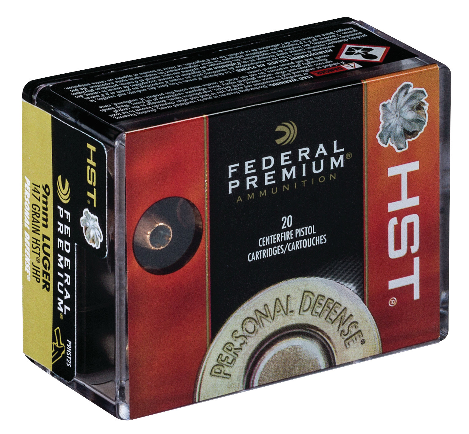Federal Premium Personal Defense Ammunition 9mm Luger 147 Grain HST Jacketed Hollow Point Per 20