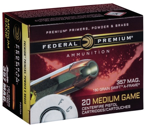 Federal Premium Vital-Shok Ammunition 454 Casull 300 Grain Swift A-Frame Jacketed Hollow Point Per 20