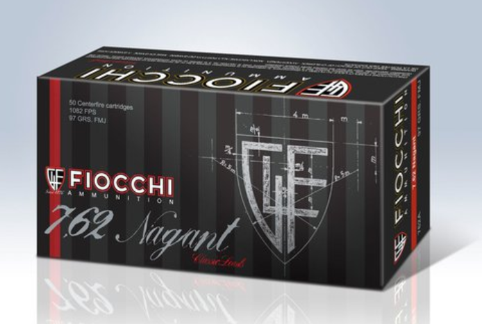 Fiocchi Classic Ammunition 7.62mm Russian Nagant 97 Grain Full Metal Jacket Per 50