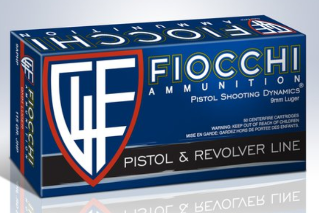 Fiocchi Shooting Dynamics Ammunition 9mm Luger 115 Grain Jacketed Hollow Point Per 50