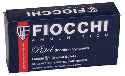 Fiocchi Shooting Dynamics Ammunition 9mm Luger 124 Grain Jacketed Hollow Point Per 50