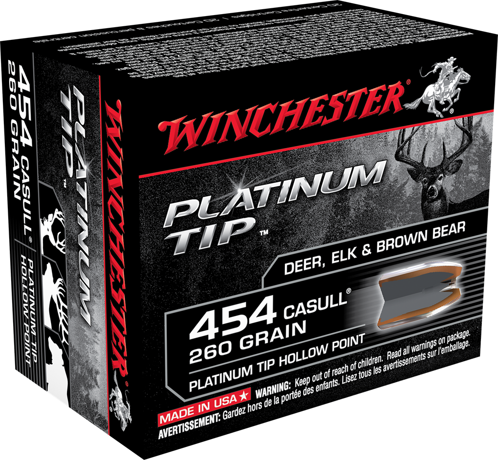 Winchester Platinum Tip Ammunition 454 Casull 260 Grain Hollow Point Per 20