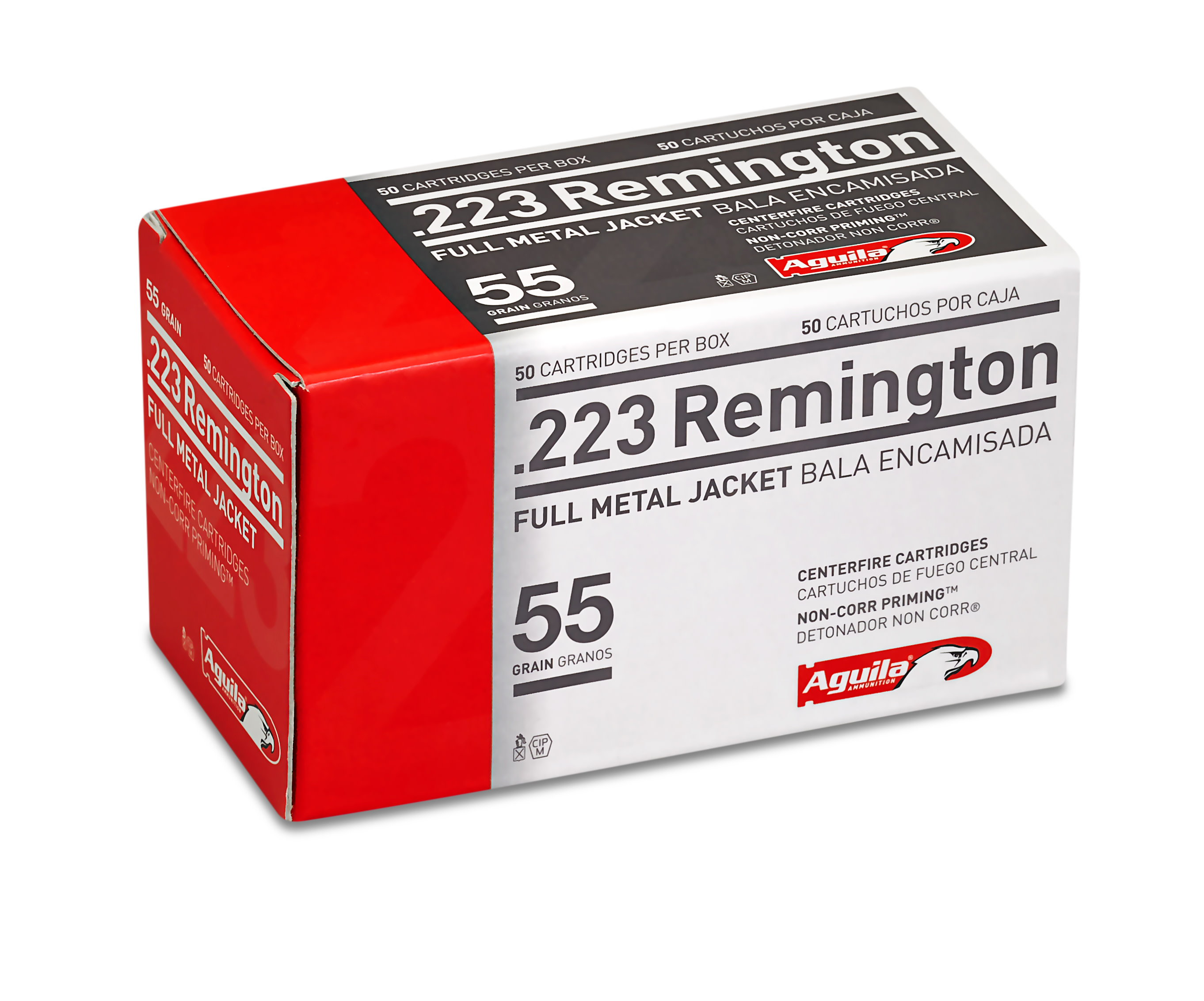 Aguila Ammunition 223 Remington 55GR Full Metal Jacket Per 50