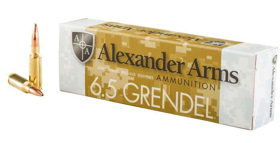Alexander Arms Ammunition 6.5 Grendel 123GR Lapua Scenar Hollow Point Boat Tail Per 20