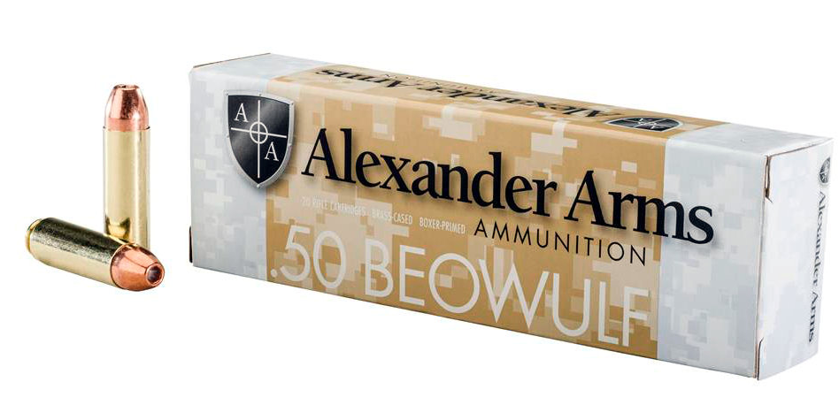 Alexander Arms Ammunition 50 Beowulf 335GR Hollow Point Per 20