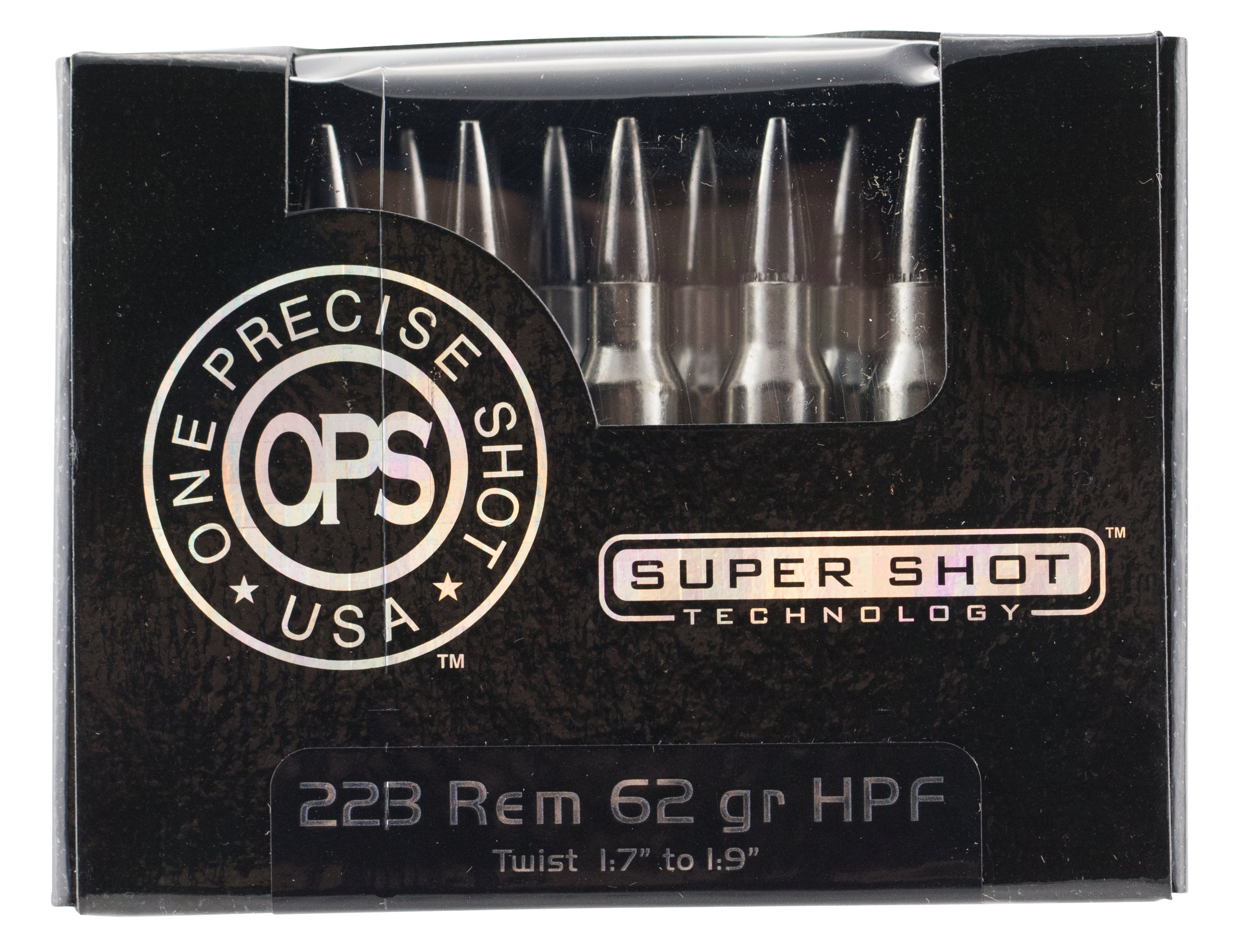 Ammo Inc. OPS Ammunition 223 Remington 62GR Frangible Hollow Point Per 20