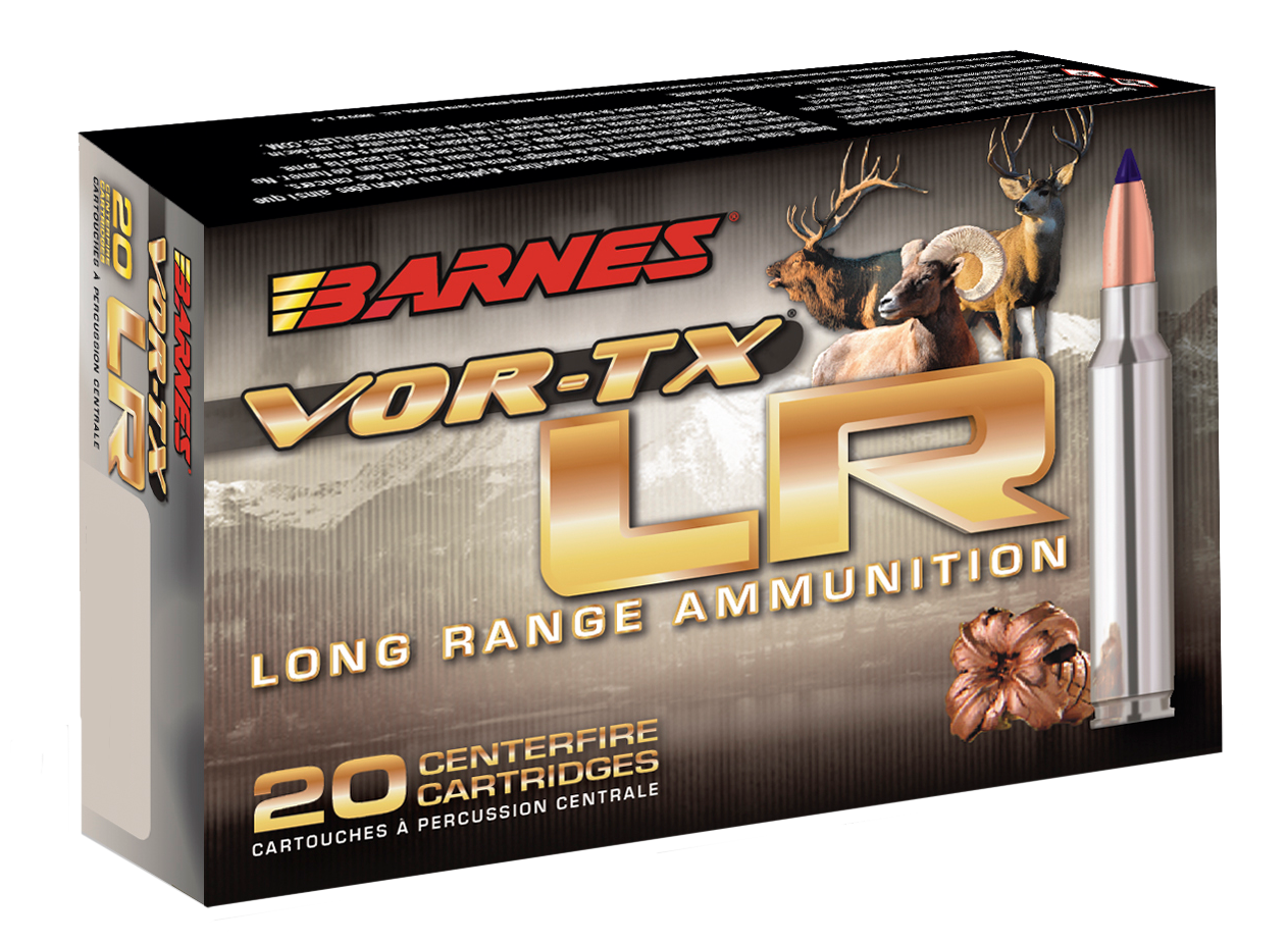 Barnes VOR-TX Long Range Ammunition 7mm Remington Magnum 139GR LRX Polymer Tip Boat Tail Per 20