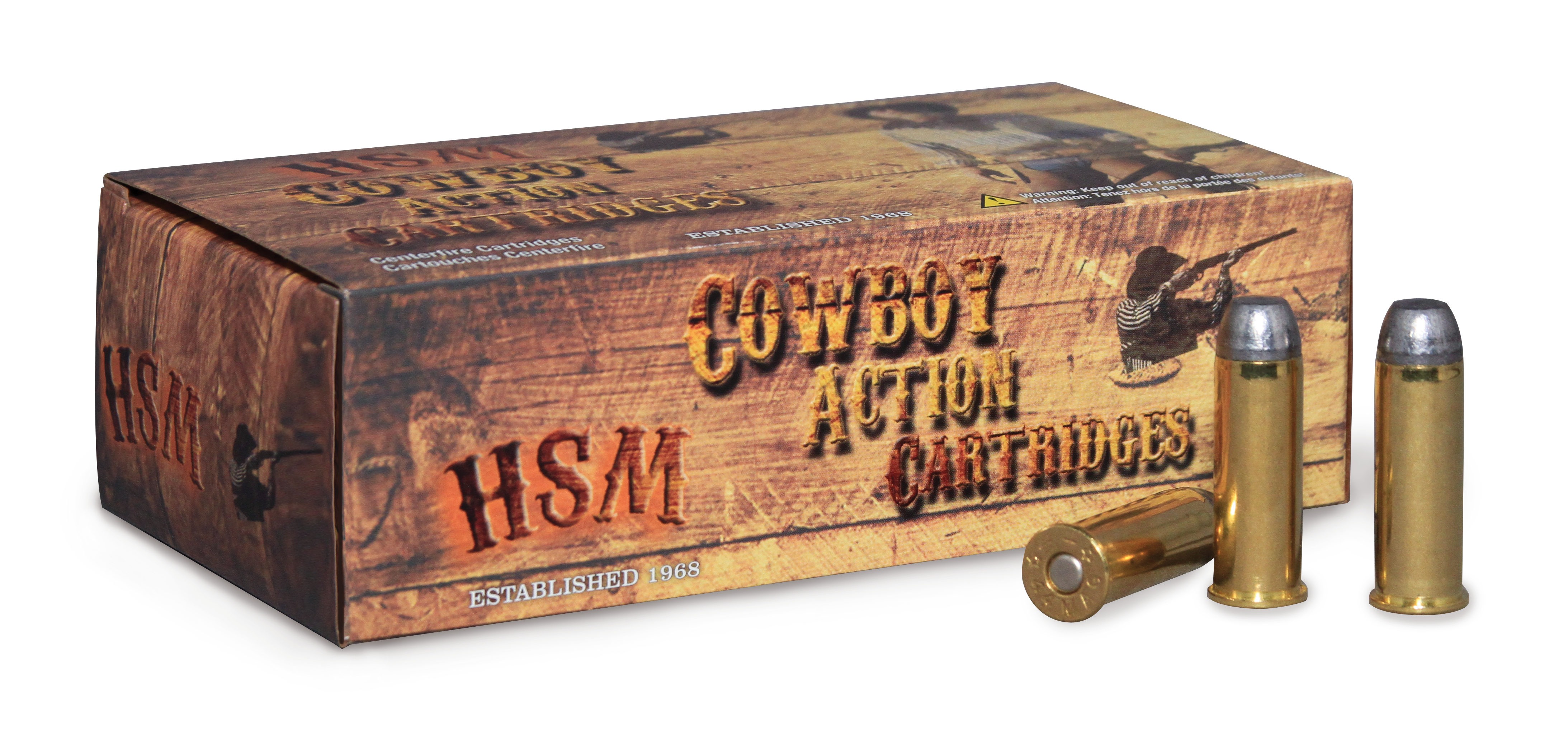 HSM Cowboy Action Ammunition 45-70 Government 405GR Round Nose Flat Point Per 20