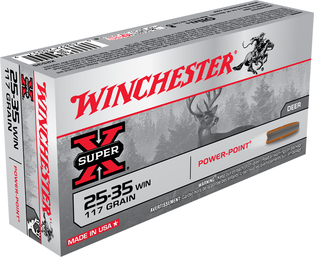 Winchester Super-X Ammunition 25-35 Winchester 117GR Power Point Jacketed Soft Point Per 20