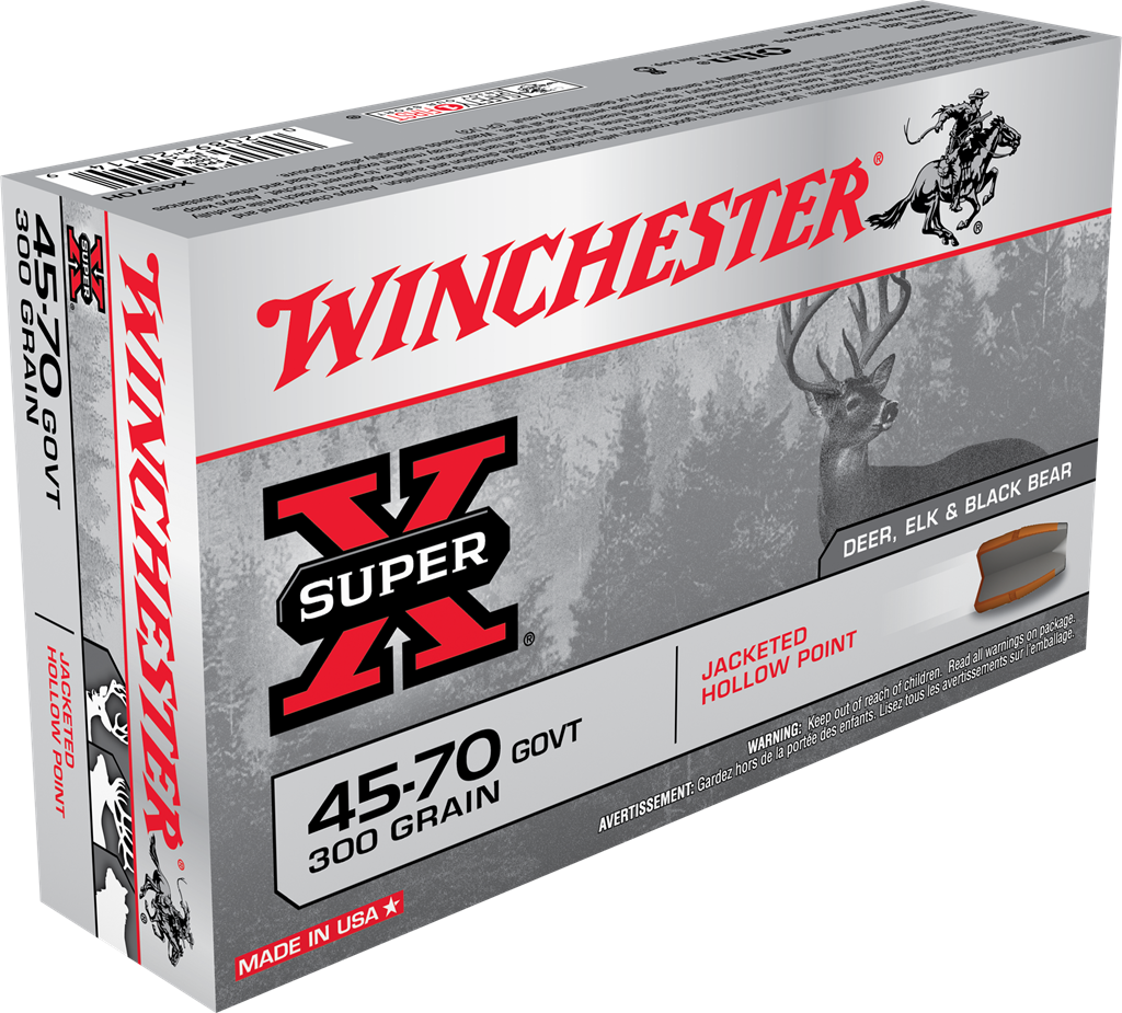 Winchester Super-X Ammunition 45-70 Government 300GR Jacketed Hollow Point Per 20