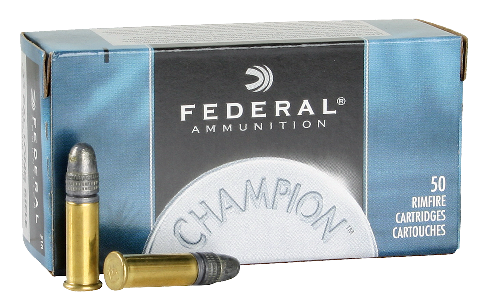 Federal Champion Ammunition 22 Long Rifle 40 Grain Lead Round Nose Per 50