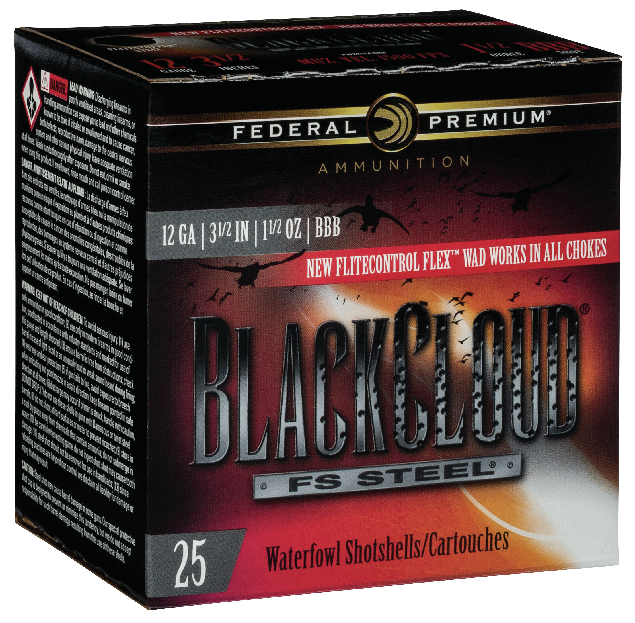 Federal Premium Black Cloud Waterfowl Ammunition 12 Gauge 3-1/2