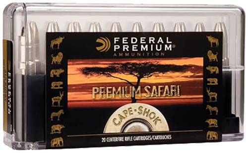 Federal Premium Cape-Shok Ammunition 416 Remington Magnum 400GR Trophy Bonded Sledgehammer Round Nose Per 20