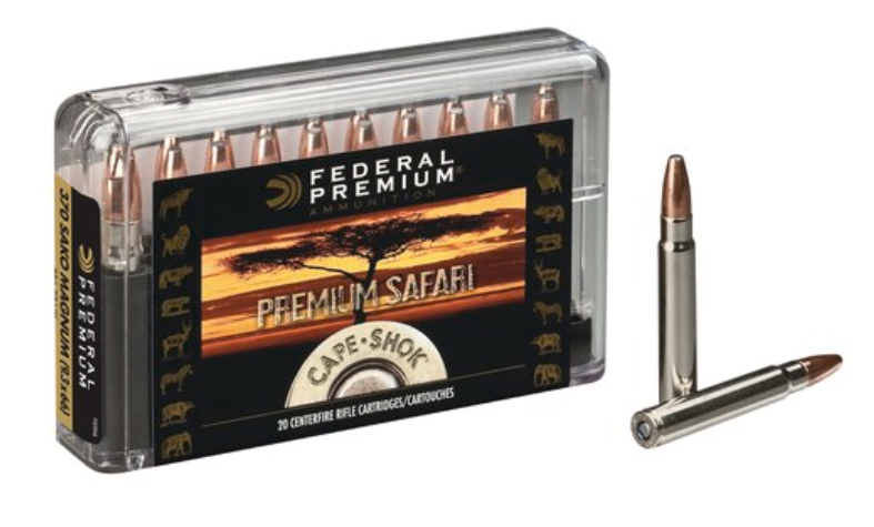 Federal Premium Cape-Shok Ammunition 370 Sako Magnum 286GR Swift A-Frame Round Nose Per 20