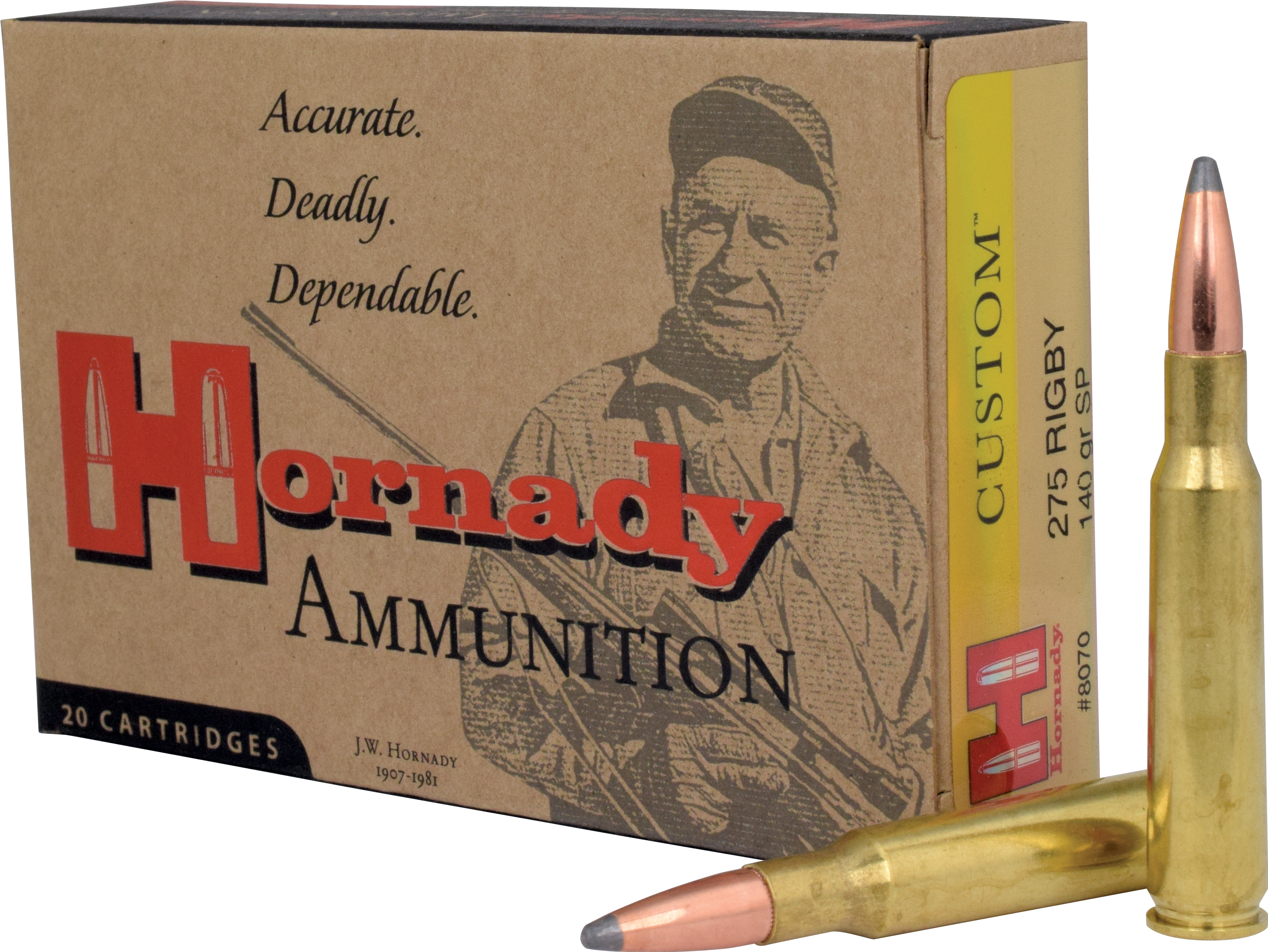 Hornady Custom Ammunition 275 Rigby 140GR Interlock Spire Point Per 20
