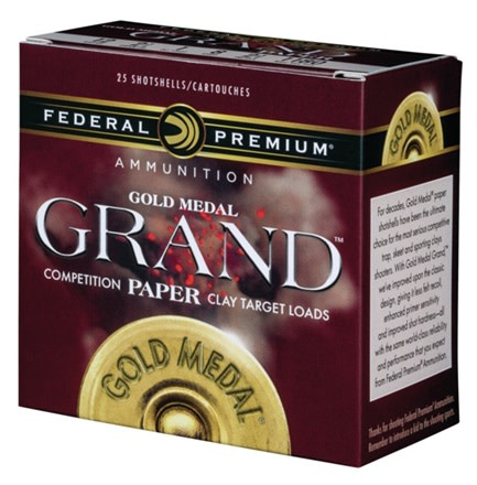 Federal Premium Gold Medal Grand Paper Target Load 12 Gauge 2-3/4