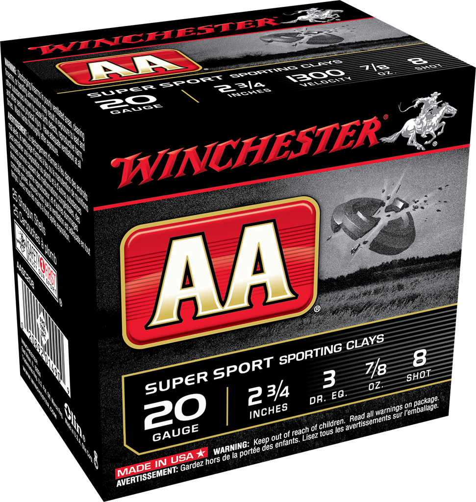 Winchester AA Super Sport Sporting Clays Target Load 20 Gauge 2-3/4