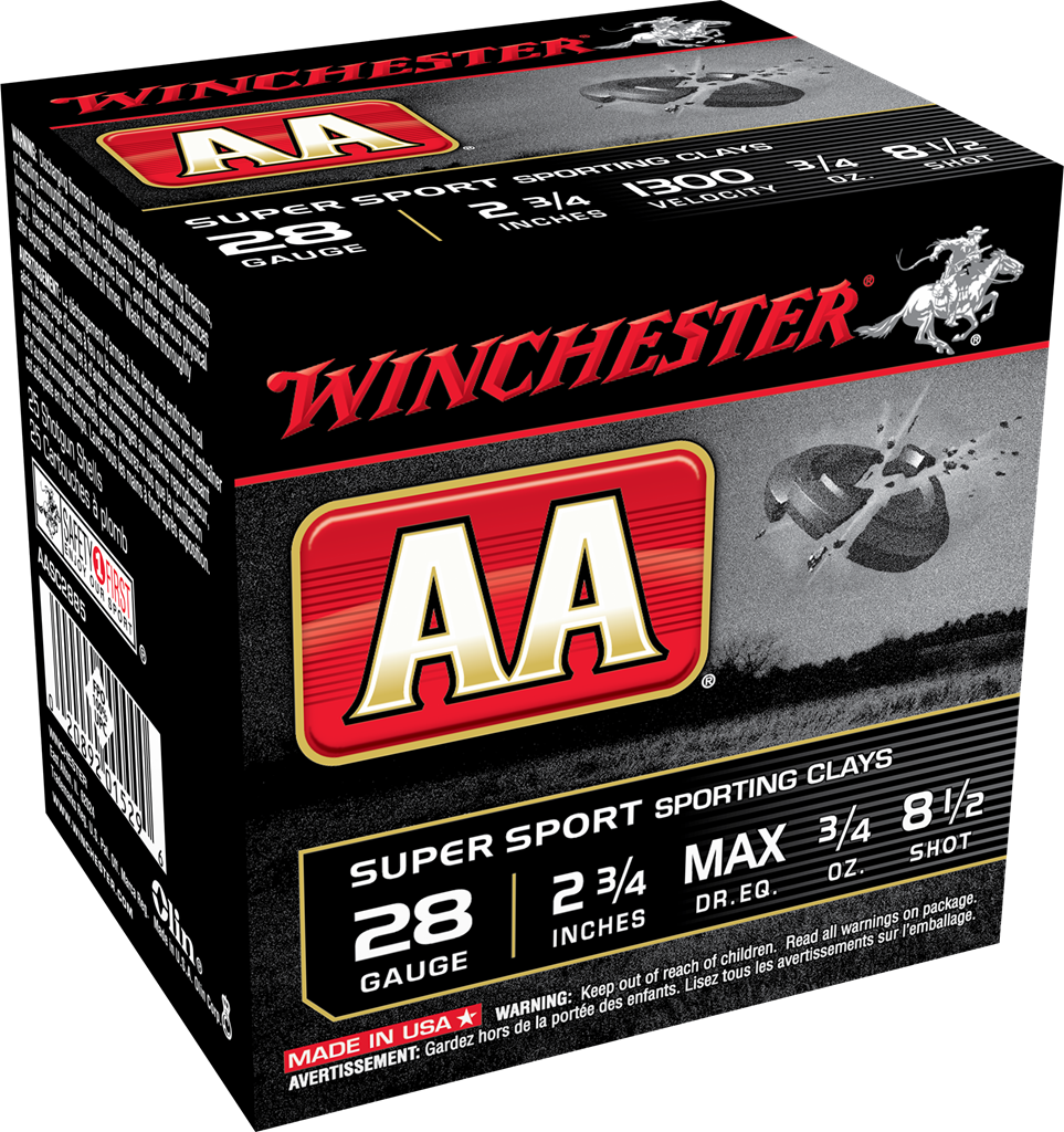 Winchester AA Super Sport Sporting Clays Target Load 28 Gauge 2-3/4
