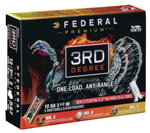 Federal Premium 3rd Degree Turkey Ammunition 12 Gauge 3-1/2